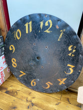 Load image into Gallery viewer, Beautiful early metal French clockface handpainted