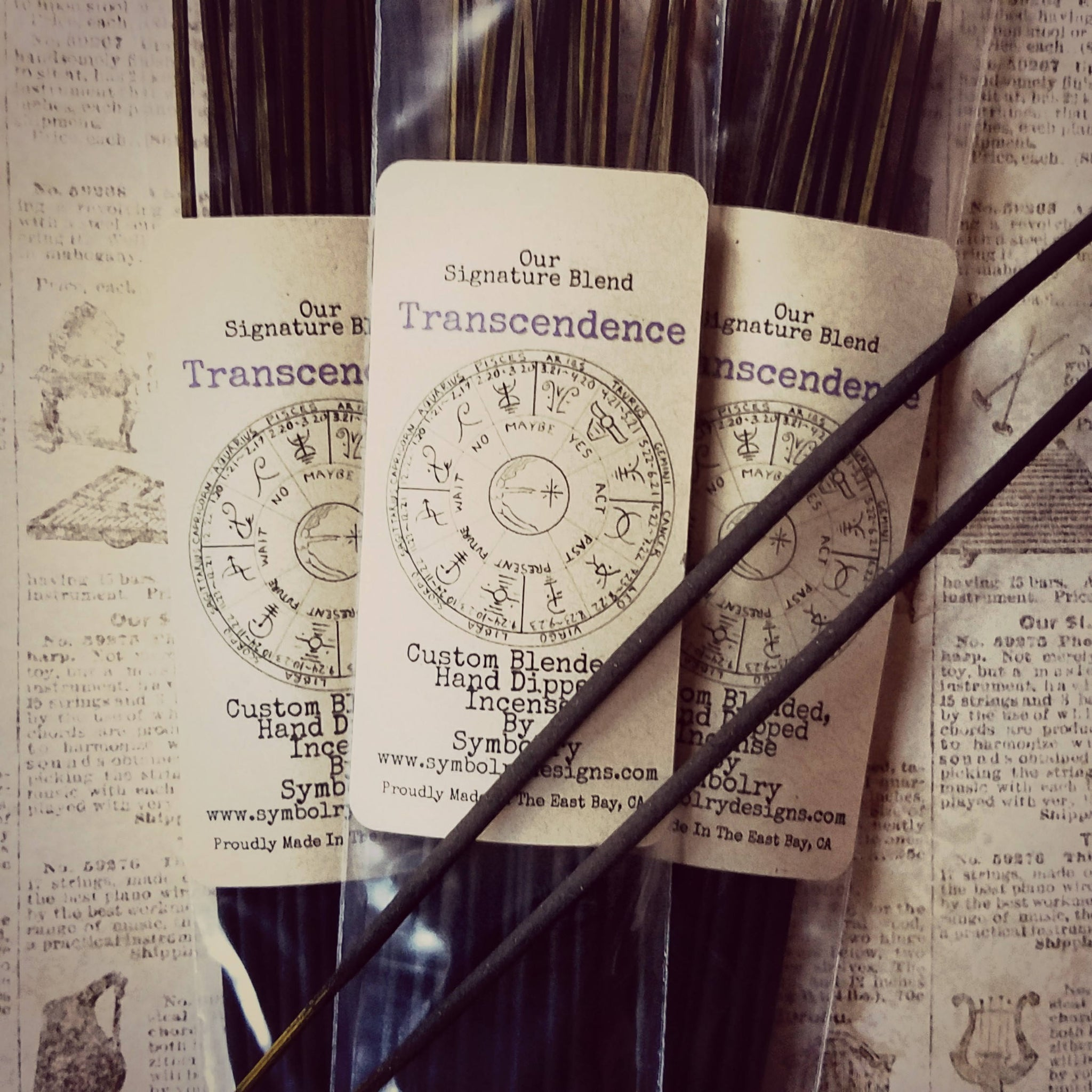 Transcendence, Custom Blended, Hand Dipped Incense Sticks