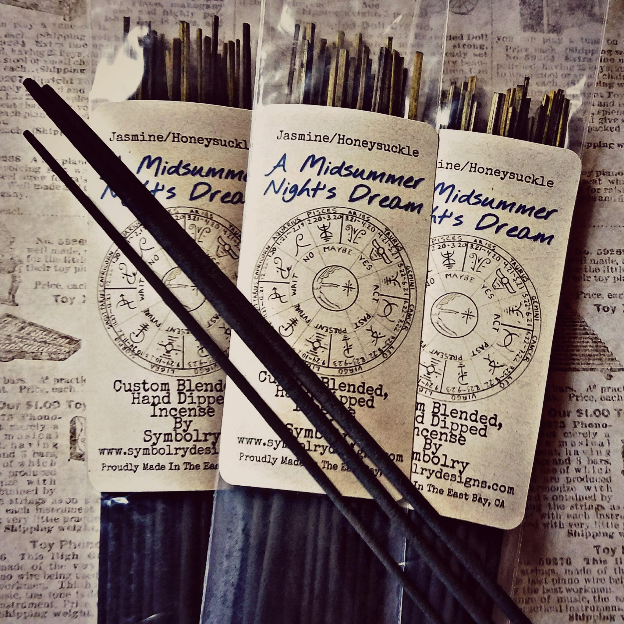 Midsummer Night's Dream - Custom Blended, Hand Dipped Incense