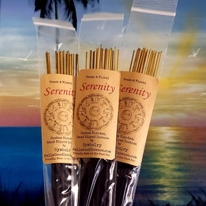 Serenity - custom blended, hand dipped incense by Symbolry