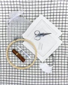 Embroidered cocktail napkin kit