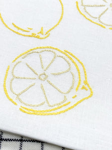 Lemons embroidery kit