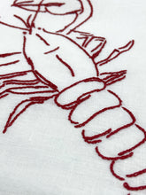 Load image into Gallery viewer, Lobster embroidery kit