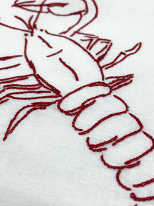 Lobster embroidery kit