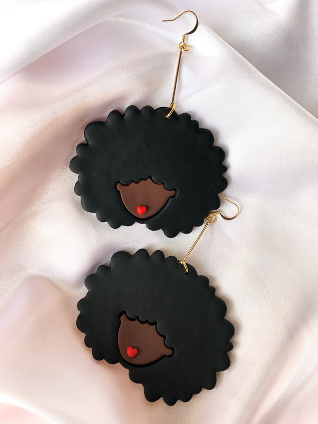 Black Perfect Puff -Statement Earring 1