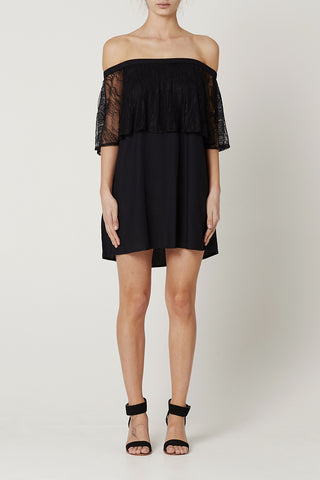 VALERIE DRESS Black Lace