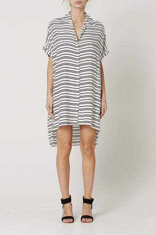 Pre Order : LARA SHIRT DRESS Stripe