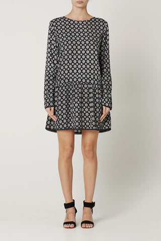 ROBERTA DRESS Medallion Print