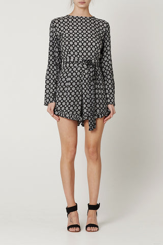 Pre Order : ELECTRA PLAYSUIT Medallion Print