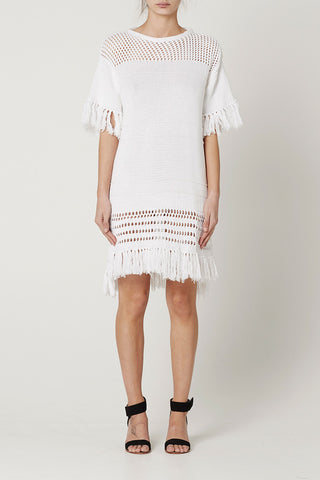 RAYA KNITTED DRESS White