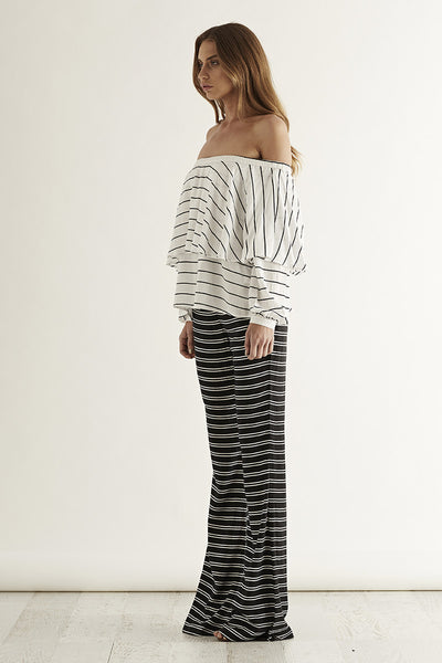 CASH Flares Black w/ White Stripe