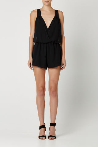 HONEYBEAR PLAYSUIT Black