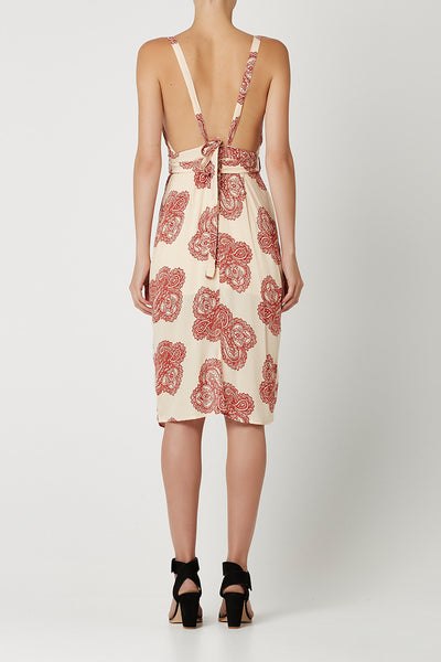 REMEMBER ME Dress Red Paisley