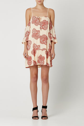 LINCOLN Dress Red Paisley