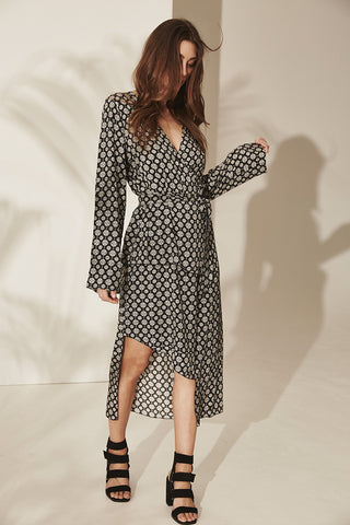 ZALI MIDI DRESS Medallion Print