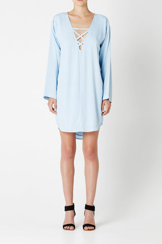 MADE Dress Pale Blue