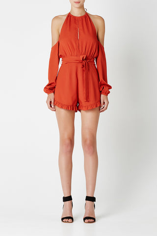 TORA Playsuit Terracotta