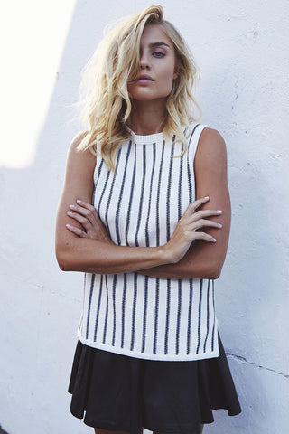 HOTLINE Knit Top Stripe