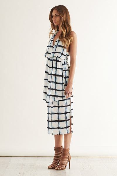 PRESS RECORD Dress Watercolour Grid