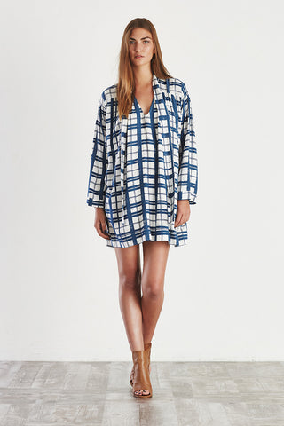 SUN CHILD Dress Check Print