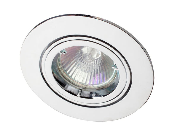 R208SC-03 GU10 Downlight Directional Chrome