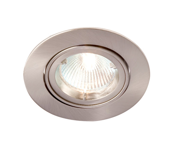 R208SC-13 GU10 Downlight Directional Brushed Chrome