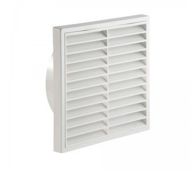 PVC Fixed Grille 100mm White