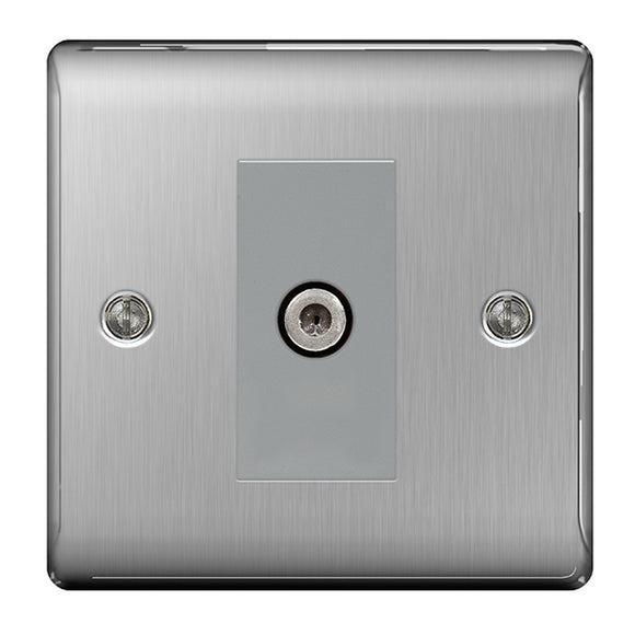 NBS64 1 Gang Satellite Co-axial Socket