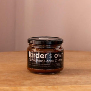 Larder's Own Spiced Pear and Apple Chutney 330gm