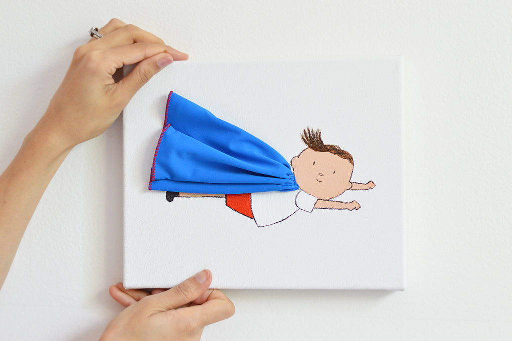 Boys Wall Decor - Nursery Art - Milo the Hero | Shenasi Concept