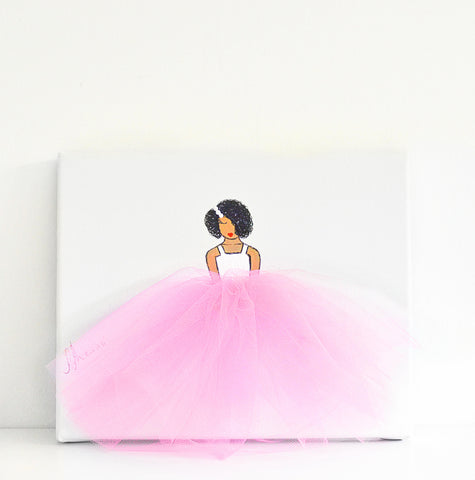 Ballerina Dressi Diva (Nina Style) - Choose Tutu Colour on White