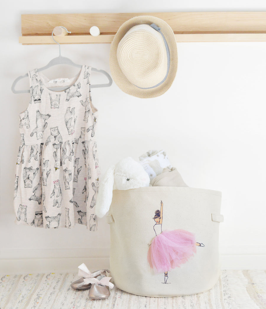 Girls room decor storage, Toy Basket for Nursery and Kids Rooms