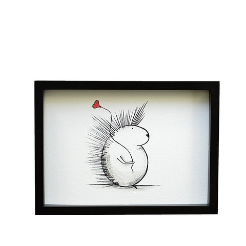 Spike - The Porcupine with Balloon (Print)
