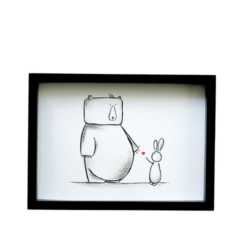 Simon & Lily - The Bear and Bunny (Print)