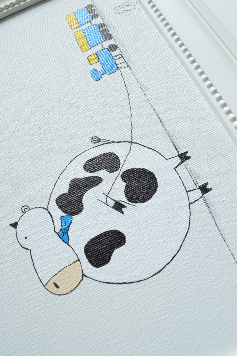 Hand Painted Wall Art For Kids - Cow | Shenasi Concept