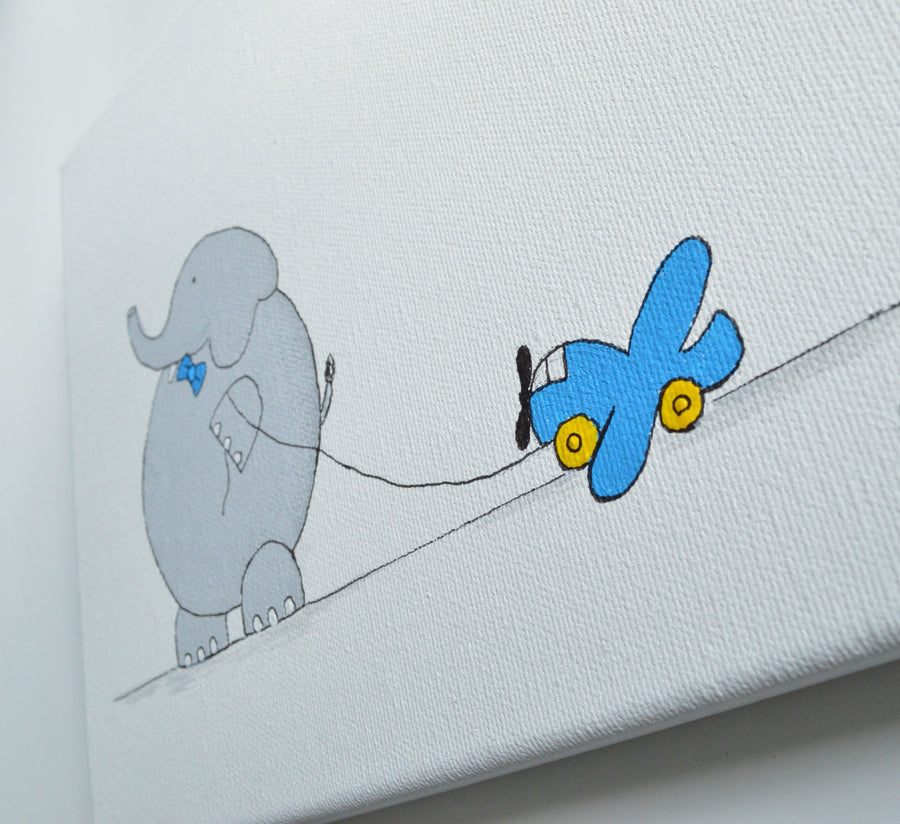 Boy Wall Decor Bob Elephant Canvas Art | Shenasi Concept