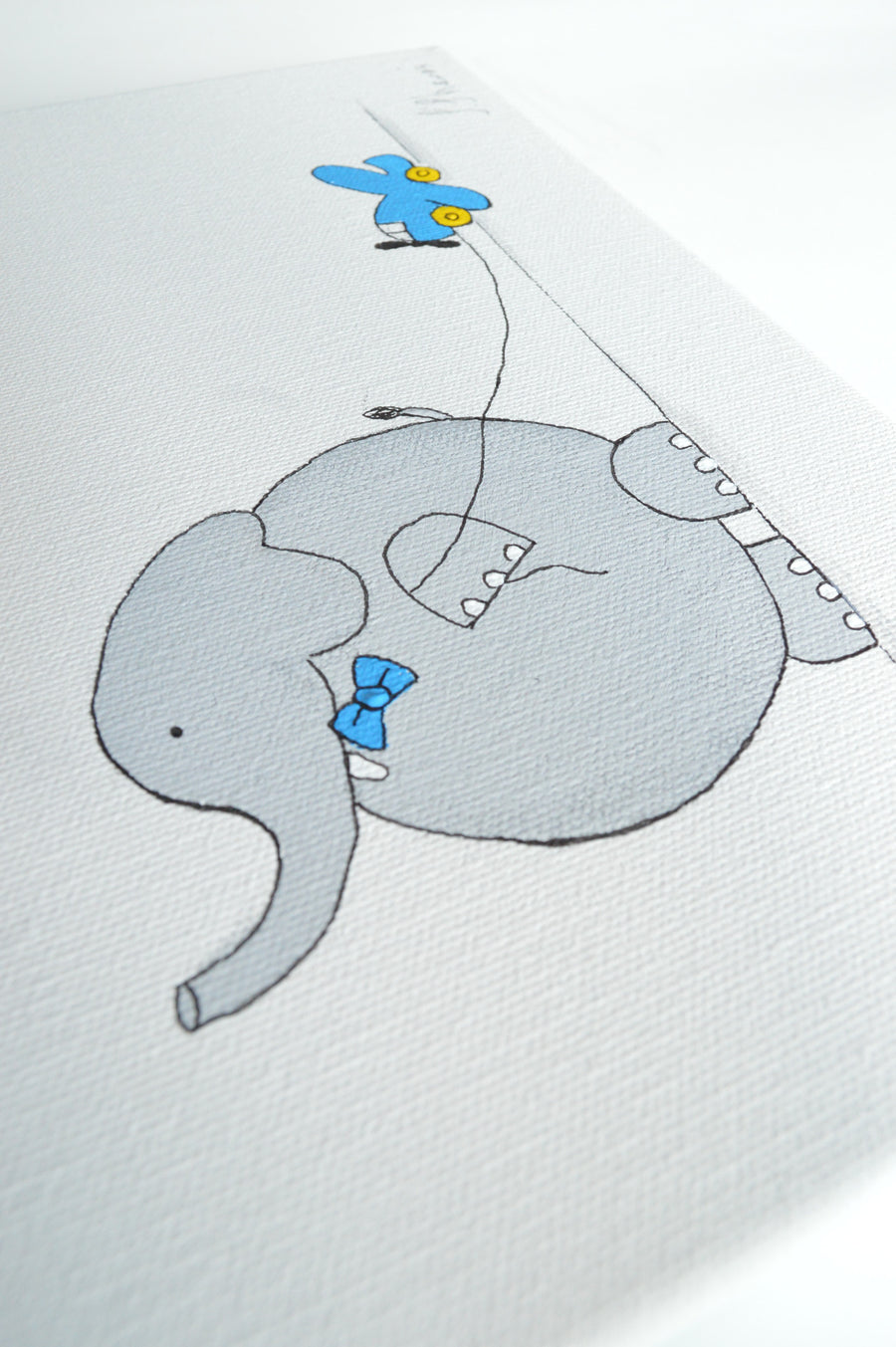Baby Boy Room Decor - Bob Elephant Canvas Art | Shenasi Concept