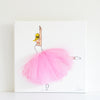 Girls Wall Decor Nursery - Jumping Ballerina Art Dressi Diva (Sofia Style) Pink Tutu