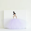Girls Wall Decor - Ballerina Art Purple Tutu | Shenasi Concept