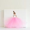 Girls Wall Decor - Ballerina Art Pink Tutu | Shenasi Concept