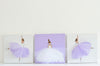 3 Ballerinas Nursery Decor Purple  | Shenasi Concept