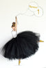 personalized nursery decor - ballerina canvas art with balloon - shenasi concept