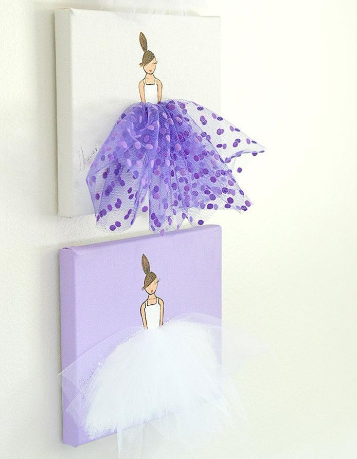 Purple Ballerina - Nursery Wall Decor Set