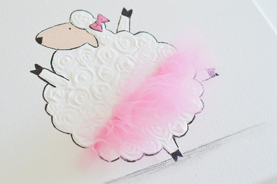 Girls Wall  Decor - Tammy sheep with tutu | Shenasi Concept