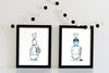 boy nursery decor - superhero bunny hocky and soccer player | shenasi concept