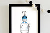 boy nursery wall art - superhero bunny hocky player | shenasi concept