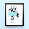 Boys Wall Decor - Jules Giraffe Superhero Art Print | Shenasi Concept