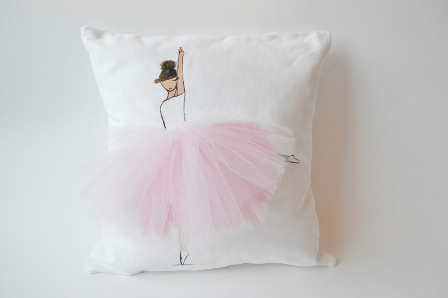 Nursery Decor - Pink Ballerina Pillow Cover | Shenasi Concept