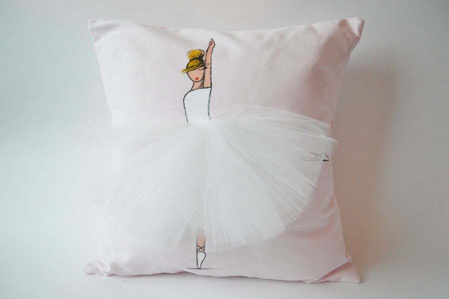 Nursery Decor - Pink Ballerina Pillow | Shenasi Concept