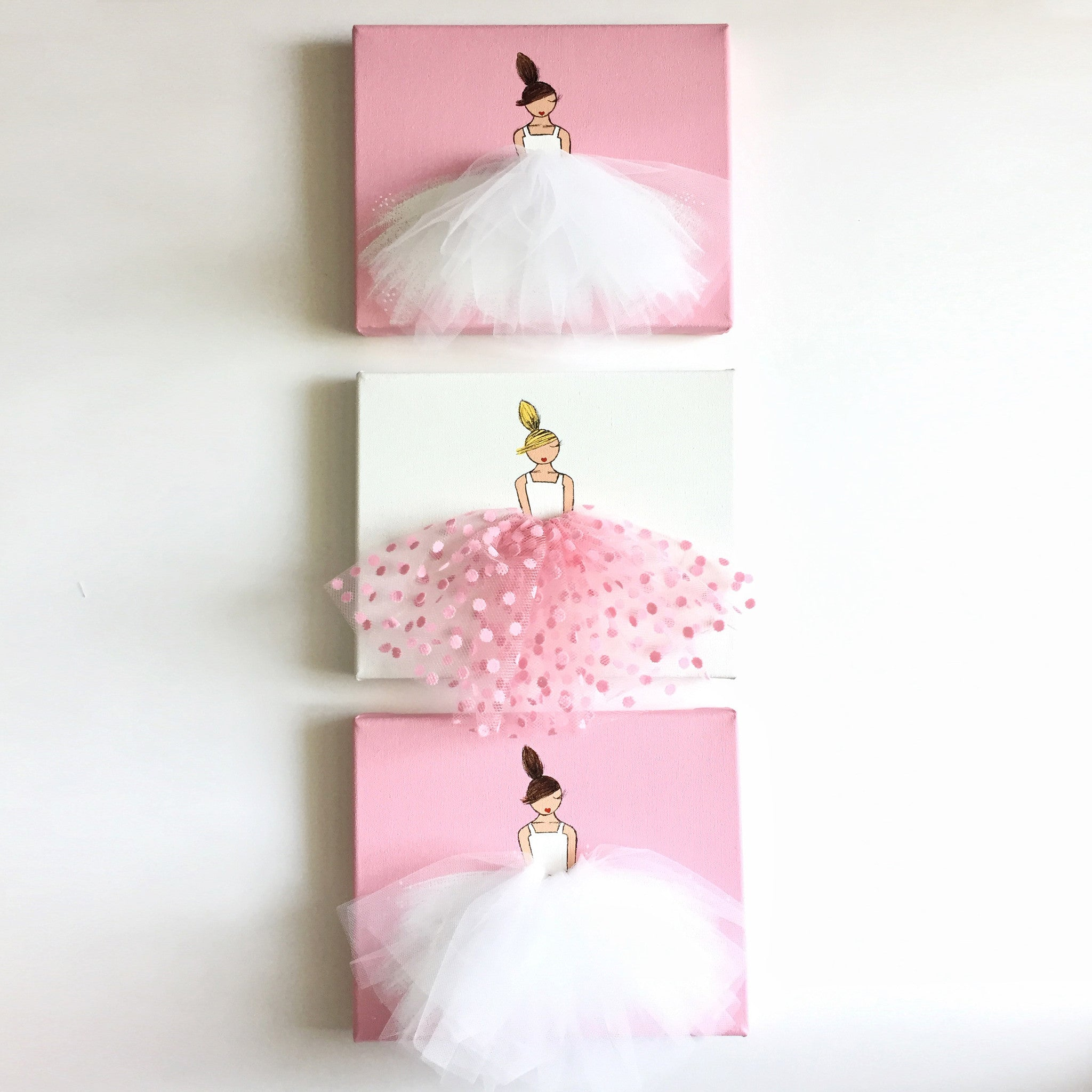 Girls nursery art ballerina decor set style a shenasi for Ballerina bilder kinderzimmer